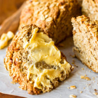 Walnut Oatmeal Sweet Irish Soda Bread
