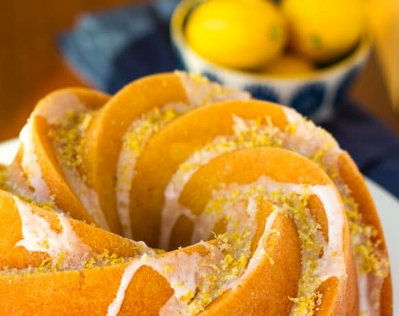 Triple Lemon Bundt Cake With Lemon Syrup, Lemon Glaze & Lemon Sugar