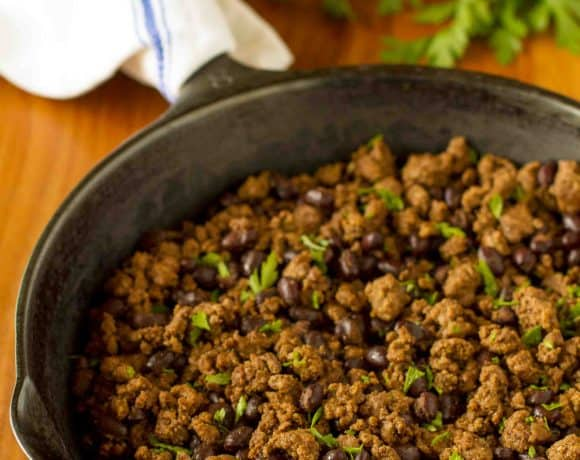Budget-Friendly Organic Taco Meat Recipe | Seasoned Ground Beef With Black Beans