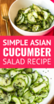 simple marinated asian cucumber salad