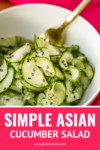 simple asian cucumber salad recipe with toasted sesame seeds