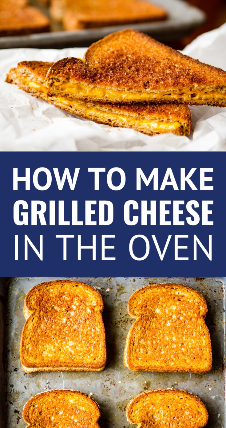 Grilled Cheese in the Oven -- this simple method makes 6 hot and fresh classic grilled cheese sandwiches per half sheet pan in just about 10 minutes... SO EASY!!! | grilled cheese in oven | baked grilled cheese | sheet pan grilled cheese | grilled cheese recipes | how to make grilled cheese in the oven #grilledcheese #sandwich #sheetpan #baked #easyrecipe #kitchenhacks #momhacks