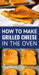how to make grilled cheese in the oven on a sheet pan