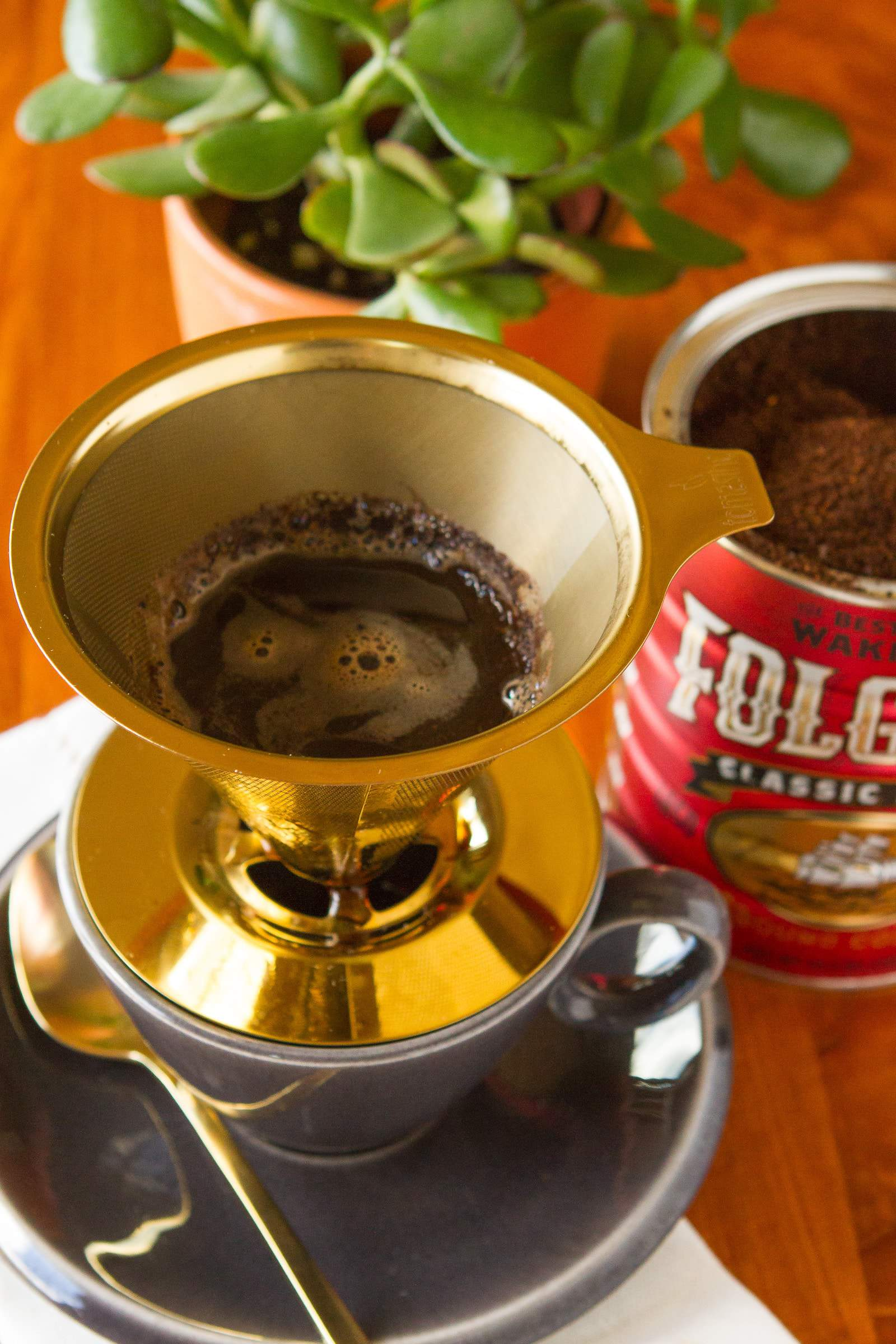 Pour Over Morning Coffee with Folgers