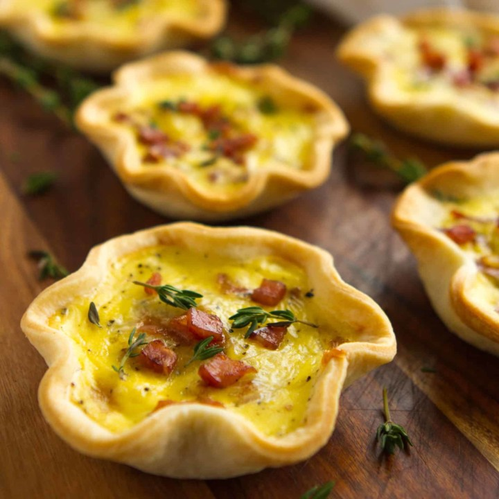 Ham & Cheese Mini Quiche