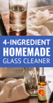 best homemade glass cleaner made with 4 ingredients