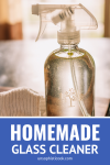 homemade glass cleaner made with 4 ingredients