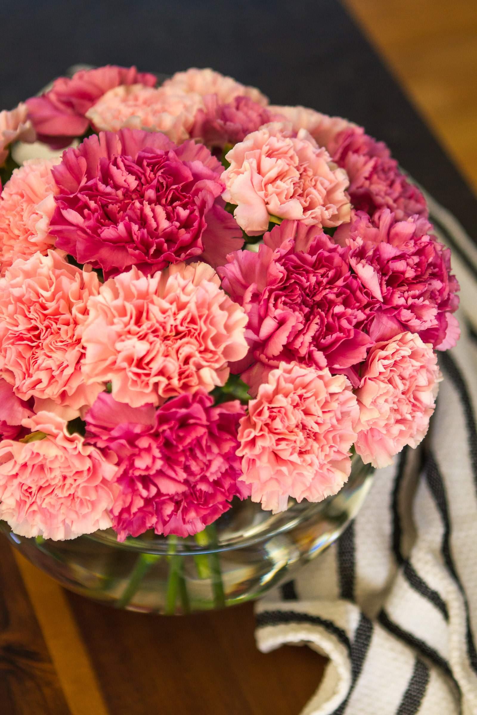 Simple Carnation Flower Arrangement But Stunning Unsophisticook