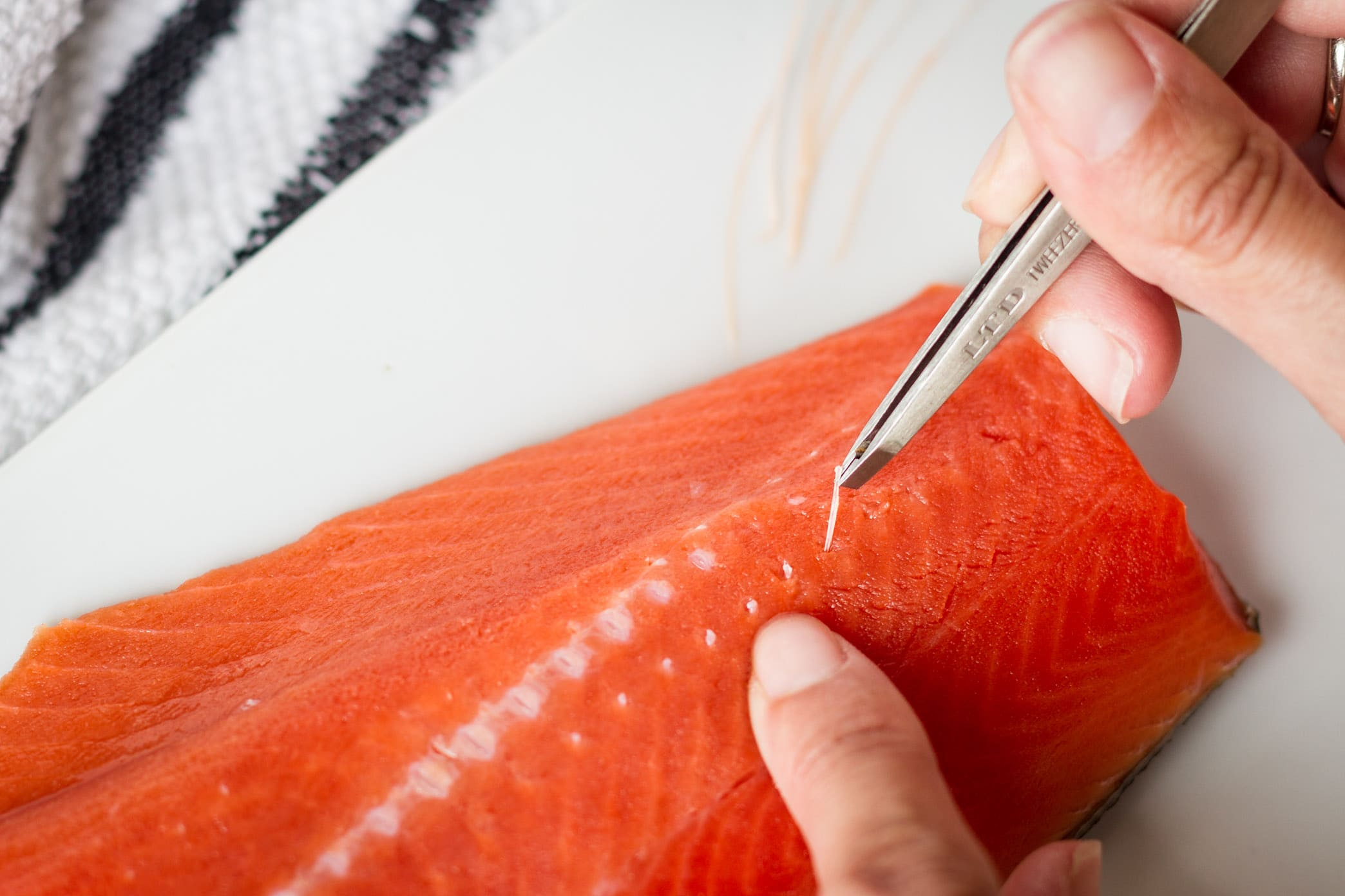 how to remove salmon pin bones the easy way
