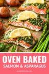 oven baked salmon and asparagus and potatoes