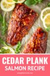 cedar plank salmon brown sugar rubbed with lemons and arugula