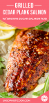 cedar plank salmon brown sugar rubbed with lemons and arugula pinterest graphic