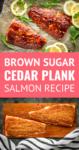 cedar plank salmon recipe made with a brown sugar grilled salmon rub