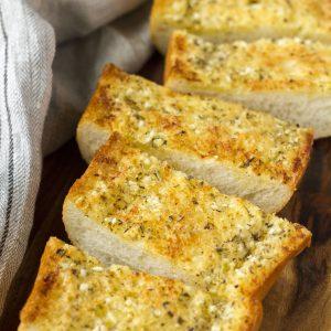Easy Homemade Garlic Bread Square