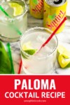 paloma cocktail with tequila in a highball glass