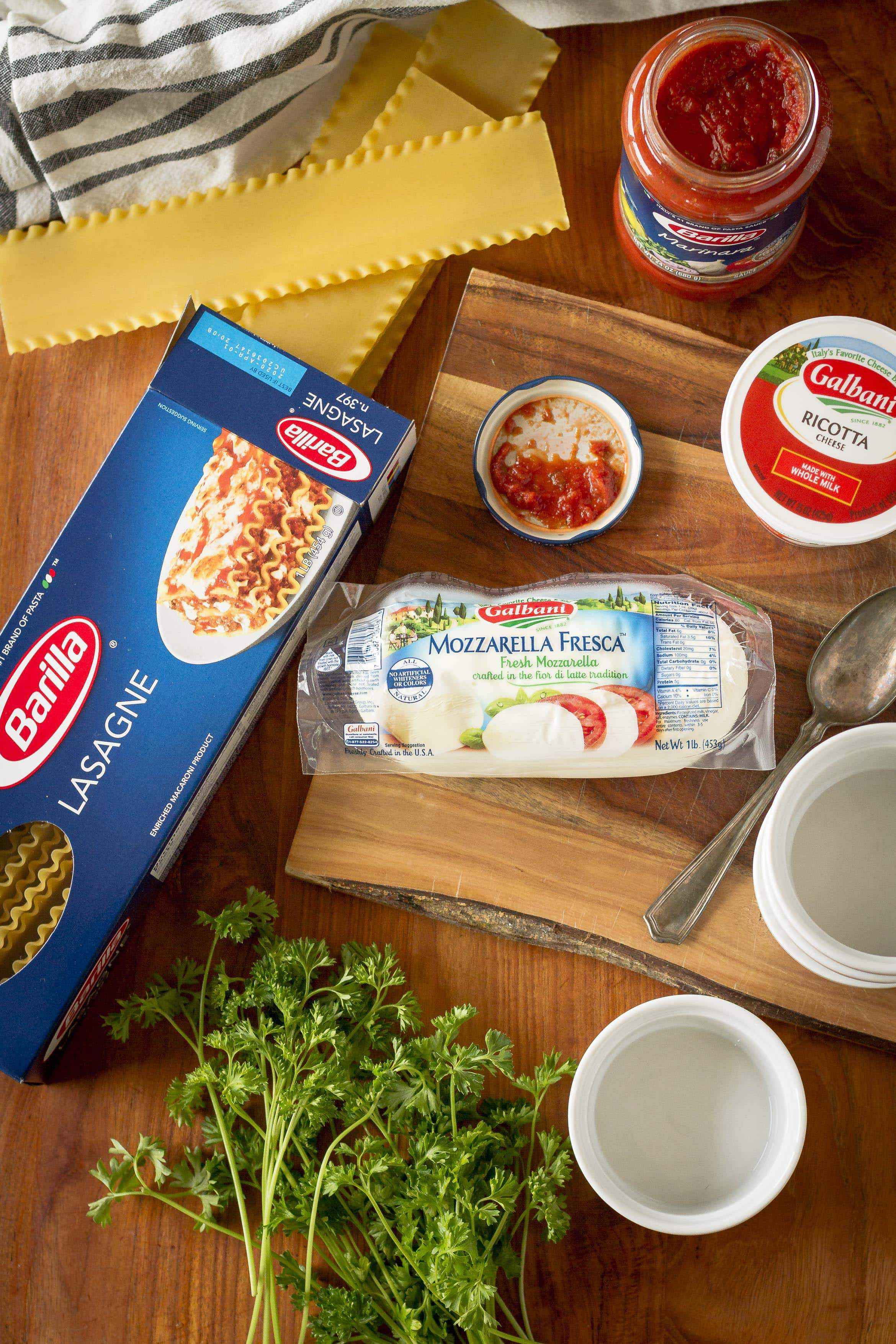 Spinach Lasagna Roll Ups Ingredients