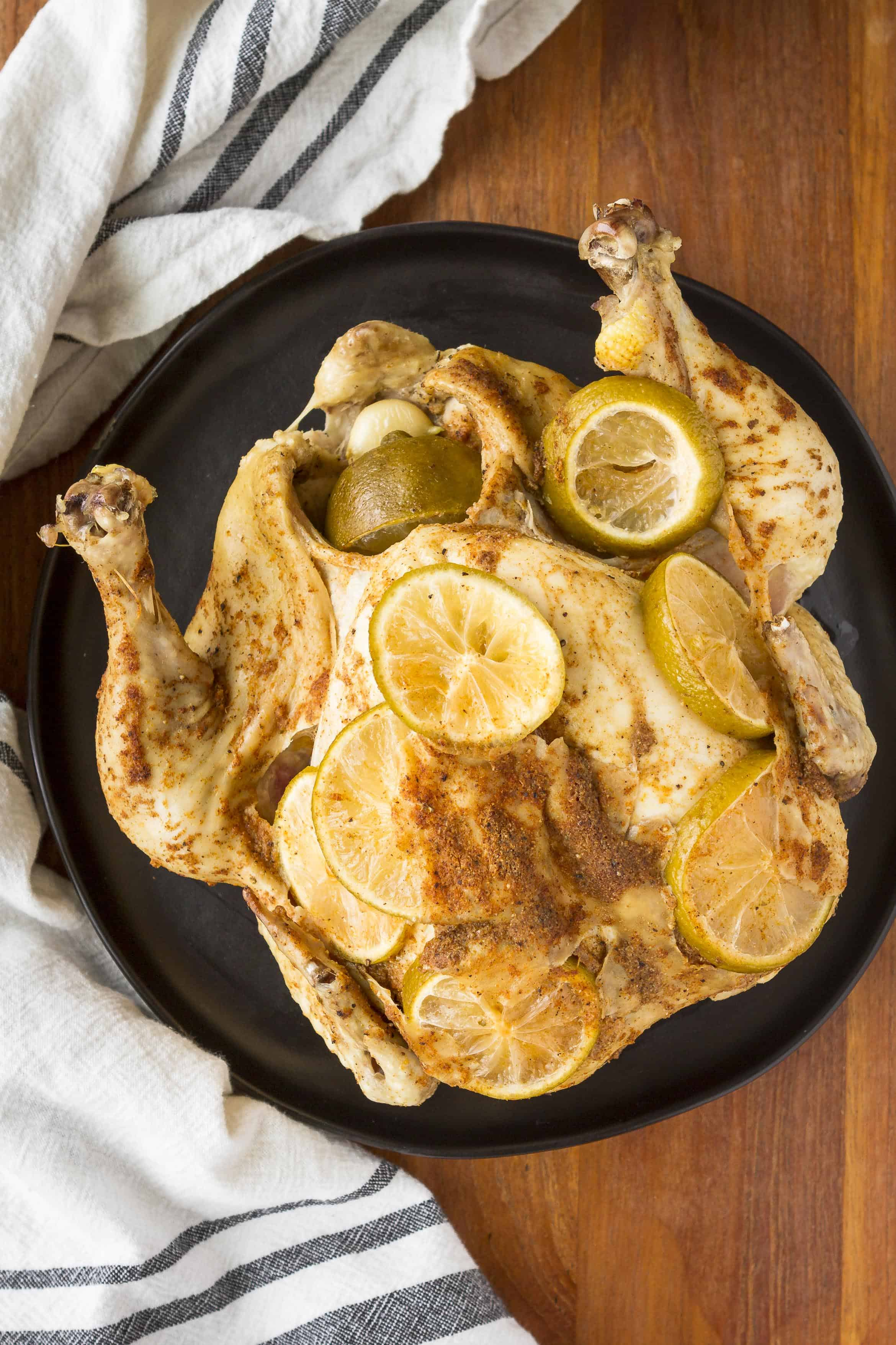 Instant Pot Beer Can Chicken with Limes
