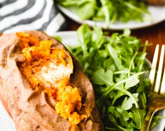 perfectly cooked instant pot sweet potato