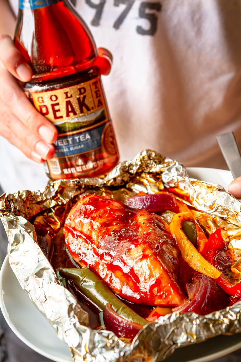 protein and a side dish all in one with this bbq chicken recipe