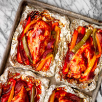 BBQ Chicken Foil Packets with Veggies