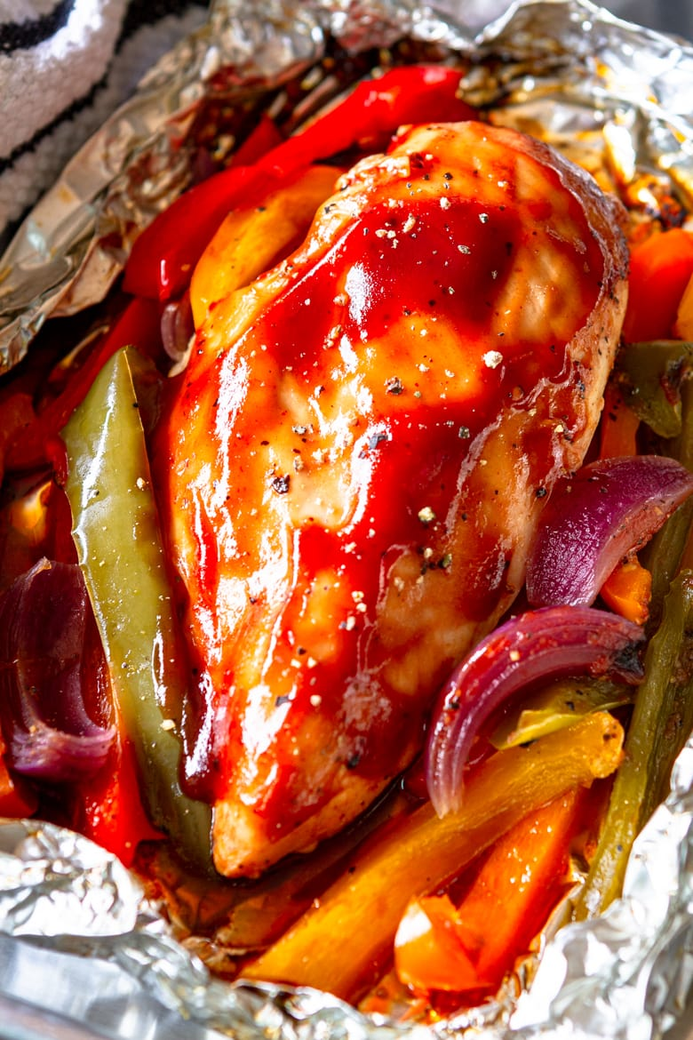 juicy and flavorful grilled chicken recipe with veggies
