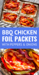 chicken foil packets baked in the oven or cooked on the grill