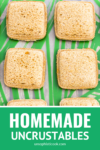diy uncrustables on a green placemat