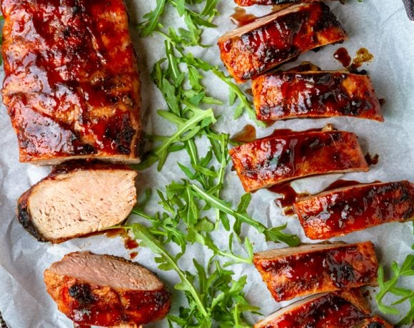 Sweet & Spicy BBQ Grilled Pork Tenderloin