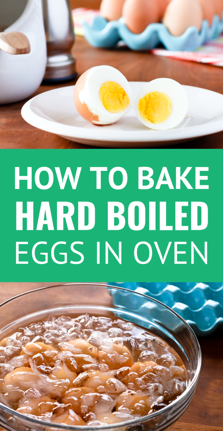 Baked Hard Boiled Eggs -- Do you know how to hard boil eggs in the oven? Okay, so it's more like hard baked eggs... But seriously, baked hard boiled eggs is one of the easiest methods ever and ideal for making big batches! | hard boiled eggs in oven | baked eggs in shell | how to bake hard boiled eggs #easyrecipe #hardboiledeggs #mealprep #mealprepideas
