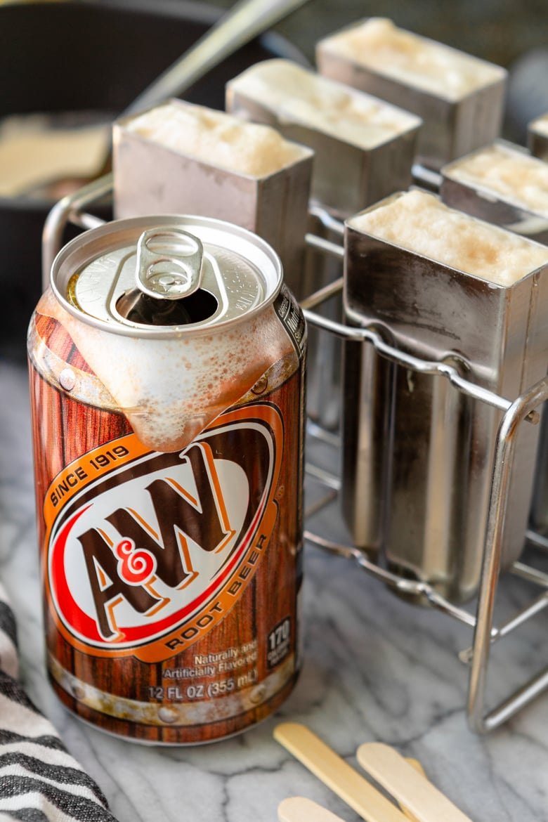 A&W root beer for making root beer popsicles