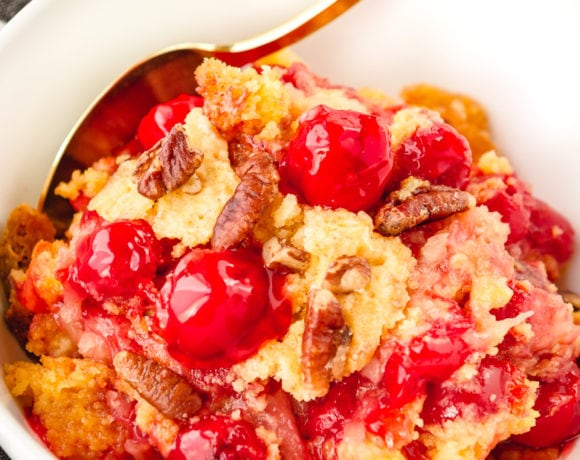 Super Easy 5-Ingredient Cherry Pineapple Dump Cake