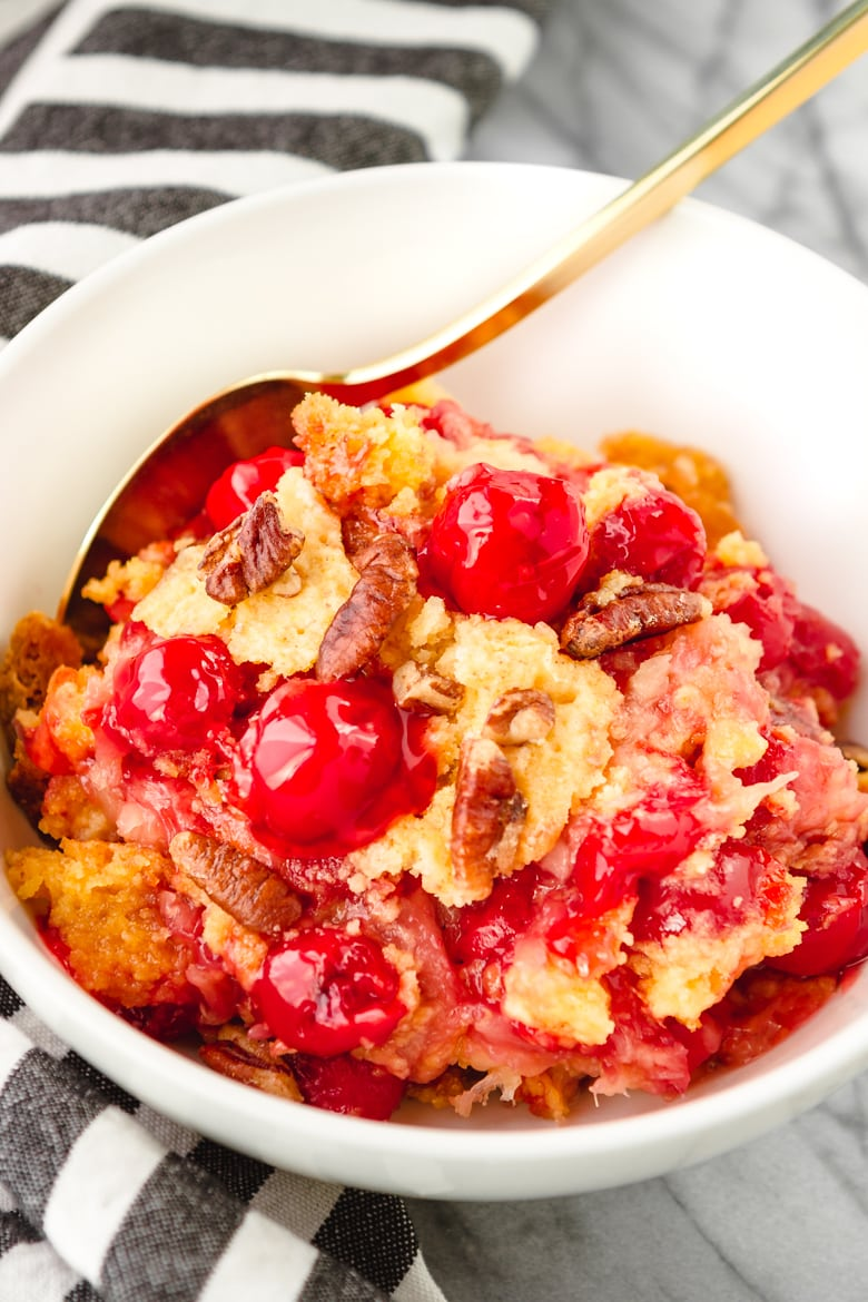 cherry dump cake perfect potluck or cookout dessert idea