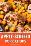 apple stuffed pork chops fall dinner recipe