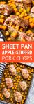 sheet pan apple stuffed pork chops recipe with butternut squash