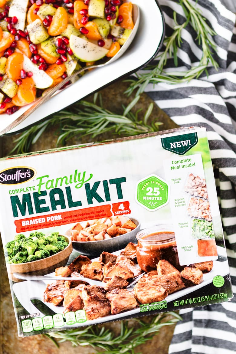 winter fruit salad with stouffer's family meal kit