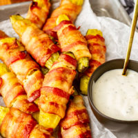 Easy Bacon Wrapped Pickles (AKA Pickle Fries)