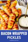 baked bacon wrapped pickles