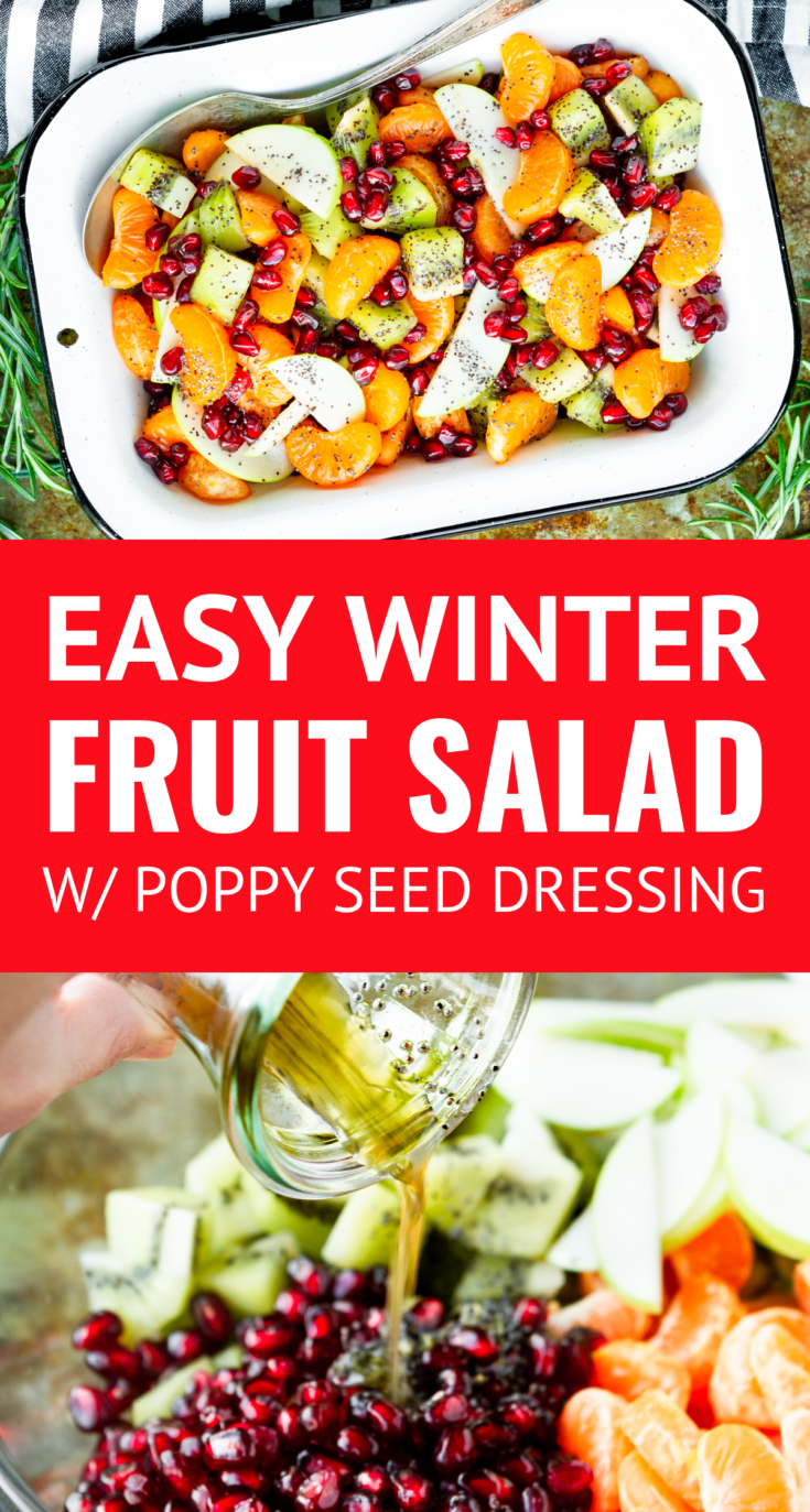 Winter Fruit Salad W Lemon Poppy Seed Dressing