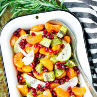 Winter Fruit Salad with Honey Lemon Poppy Seed Dressing