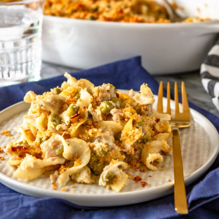 Easy Tuna Casserole With Egg Noodles