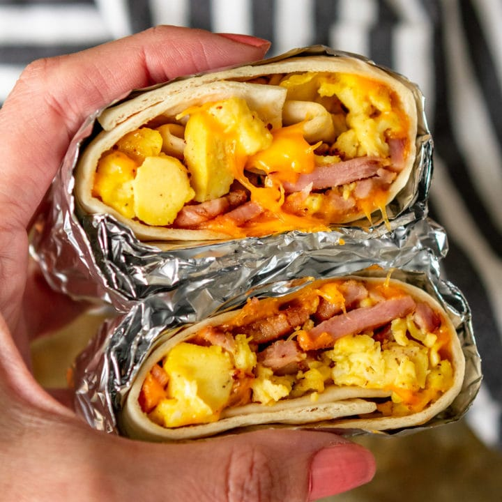 simple & easy freezer breakfast burritos recipe