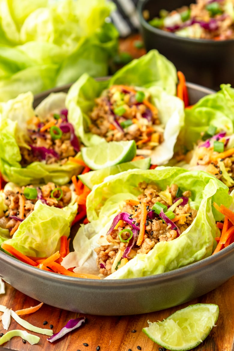 how to make asian pork lettuce wraps with ground pork on the stove top