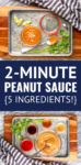 easy peanut sauce recipe made with 5 ingredients