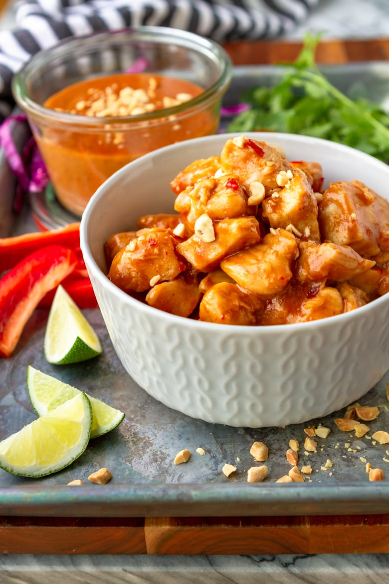 how to make peanut butter chicken with easy peanut sauce