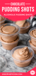pudding shots stacked up in condiment cups with lids