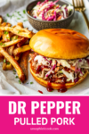 dr pepper pulled pork instant pot with coleslaw and fries