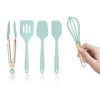 Mint Green Silicone Mini Kitchen Utensil Set (5-pc.)