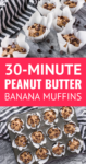 peanut butter banana muffins with parchment paper muffin liners
