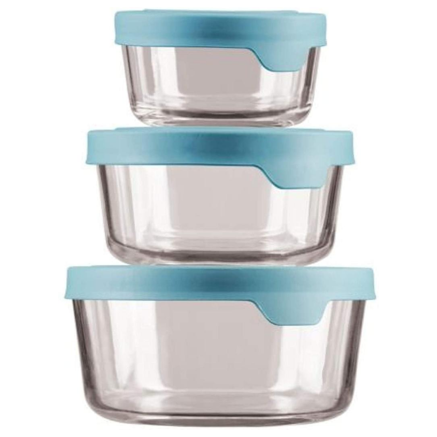 Anchor Hocking Round Glass Storage Containers